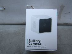Wifi Battery Camera - Untested & Boxed -