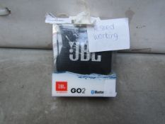 JBL by Harman Go2 Bluetooth Speaker - Untested as Needs Charging - Boxed - RRP £35