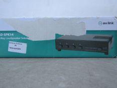 Av Link 4 Way Loudspeaker Selector - Unchecked & Boxed - RRP £25