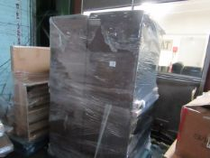 | 1x | PALLET OF APPROX 5 LEATHER STYLE AREM CHAIRS | ALL UNCHECKED|
