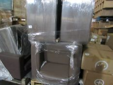 | 1x | PALLET OF APPROX 5 LOFT LEATHER STYLE ARM CHAIRS | ALL UNCHECKED|