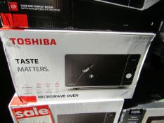 4x Toshiba MM2-AM23PF(WH) 800W Microwave Ovens - Black/White - Unchecked & Boxed - RRP £74.99 -