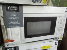 5x 700w Manual Microwave Ovens - Silver - Unchecked & Boxed - RRP £40 - Total lot RRP £200 - Load