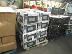 1x Pallet of Approx 24 700w Manual Microwaves - Black - Unchecked & Boxed - RRP £40 Per Lot -