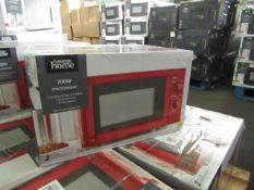 4x 700w Manual Microwave Oven - Red - Unchecked & Boxed - RRP £40 - Total lot RRP £160 - Load Ref -