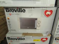 5x Breville 17L 800W Solo Microwave Oven - White - Unchecked & Boxed - RRP Per Item £59.99 - Total