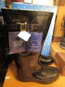 UB Waterbreakers Fleece Lined Wellingtons Black Size 36 New & Boxed