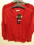 3x girls 2piece school cardigan red - size 7/8 - new but might have security tags on.