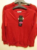 3x girls 2piece school cardigan red - size 10/11 - new but might have security tags on.