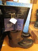 UB Waterbreakers Fleece Lined Wellingtons Black Size 38 New & Boxed