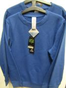 2x Girls 2 piece school cardigan blue - size 10/11 - new but might have securty tags on.