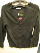 2x girls 2piece school cardigan grey - size 10/11 - new but might have security tags on.