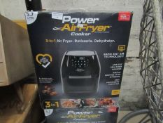 | 2X | 5.7L POWER AIR FRYER COOKER | UNCHECKED & BOXED | NO ONLINE RESALE | RRP £149.99 | TOTAL