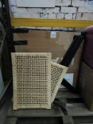 | 1X | MADE.COM MODICA ACCENT ARMCHAIR, RATTAN & MATTE BLACK | UNCHECKED & BOXED | RRP £199 |