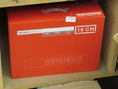 16 Channel POE ethernet Switch, unchecked and boxed.