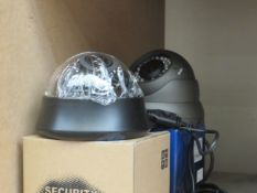 2x CCTV digital cameras, unchecked and boxed.