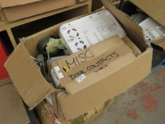 2x Boxes of various CCTV parts, all unchecked and loose.