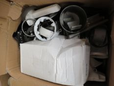 Box containing over 20x various CCTV parts, all loose and unchecked.