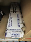 Tilting TV mounting bracket frame style large, unchecked and boxed.