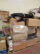 Pallet containing a large variety of CCTV equipment and parts, all unchecked.