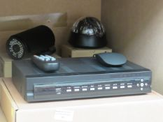 Digital video recorder with 2x cameras, unchecked (no hard drives) and boxed.