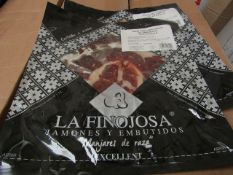 10 x La Finojosa 100g packets Sliced Iberian cured ham in slices. BB 18.3.22 RRP £16.25 per packet