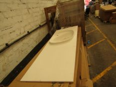 Roca Surfex 1TH basin with waste trap, new and boxed. RRP when sold with the unit (which this is