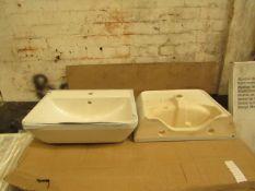 Vitra Integra Lavabo 600mm 1 tap hole basin, new.