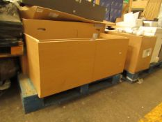 Roca Stratum wooden vanity unit 1085mm, new and boxed. RRP Circa £750, please note this is our
