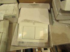 Roca L1 white flush plate, new and boxed