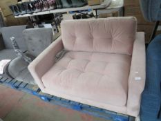 | 1X | SWOON PINK VELVET SMALL LOVE SEAT | no major damage (PLEASE NOTE, THIS DOES NOT PROVIDE ANY