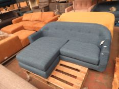 | 1X | MADE.COM BLUE 2 SEATER CORNER SOFA | no major damage (PLEASE NOTE, THIS DOES NOT PROVIDE