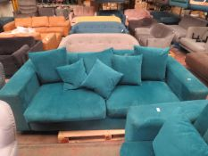 | 1X | MADE.COM BLUE 3 SEATER CORNER SOFA | no major damage (PLEASE NOTE, THIS DOES NOT PROVIDE