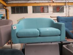 | 1X | MADE.COM BLUE TUBBY LOVE SEAT | no major damage (PLEASE NOTE, THIS DOES NOT PROVIDE ANY