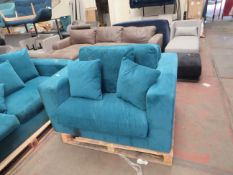 | 1X | MADE.COM BLUE ARMCHAIR | no major damage (PLEASE NOTE, THIS DOES NOT PROVIDE ANY WARRANTY