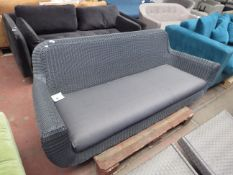 | 1X | MADE.COM GREY RATTAN SOFA WITH CUSHION | no major damage (PLEASE NOTE, THIS DOES NOT