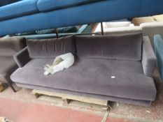 | 1X | SWOON VELVET 3 SEATER SOFA | HAS MARKS FROM BEING REFURBISHED | RRP £1199 |