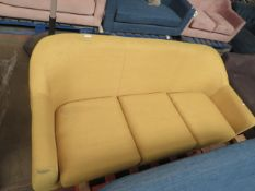 | 1X | MADE.COM YELLOW 3 SEATER TUBBY SEAT | no major damage (PLEASE NOTE, THIS DOES NOT PROVIDE ANY