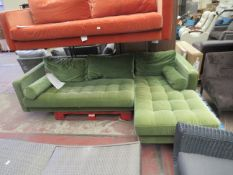 | 1X | MADE.COM GREEN VELVET CORNER SOFA | no major damage (PLEASE NOTE, THIS DOES NOT PROVIDE ANY
