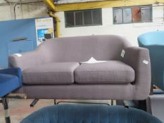 1 x Made.com Tubby 2 Seater Sofa Pewter Grey RRP £299 SKU MAD-SOFTUBY48GRY-UK TOTAL RRP £299 This