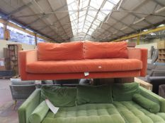 | 1X | MADE.COM SUNSET ORANGE 3 SEATER SOFA | no major damage (PLEASE NOTE, THIS DOES NOT PROVIDE