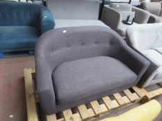 | 1X | MADE.COM GREY 3 SEATER TUBBY SEAT | no major damage (PLEASE NOTE, THIS DOES NOT PROVIDE ANY