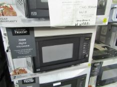 5x 700w Digital Microwave Oven - Black - Unchecked & Boxed - RRP £46 - Total lot RRP £230 - Load ref