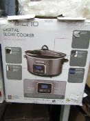Ambiano - Digital Slow Cooker - 5.5 L - Unchecked, Untested & Boxed.