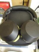 Phillips 800 series over ear head phones, tested working with carry case, the material on the ear