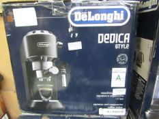 DELONGHI - Dedica Style Traditional Pump Espresso Machine - Black - Item Powers On, Unchecked For