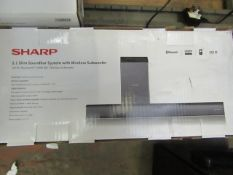 | 1X | SHARP 2.1 SLIM SOUNDBBAR AND WIRELESS SUB | UNCHECKED AND BOXED | RRP £99 |
