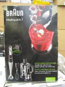BRAUN - MultiQuick 7 MQ7045 Hand Blender - Black - Unchecked, Untested & Boxed. RRP £105.