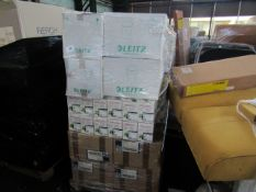 PALLET CONTAINING VARIOUS ITEMS BEING PLASTIC BINS,TONER CARTRIDGES AND FOLDERS. ALL UNUSED