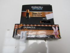 2x Packs of Duracell Batteries - 1x Pack only has 4 of 12 Batteries but the other pack is full